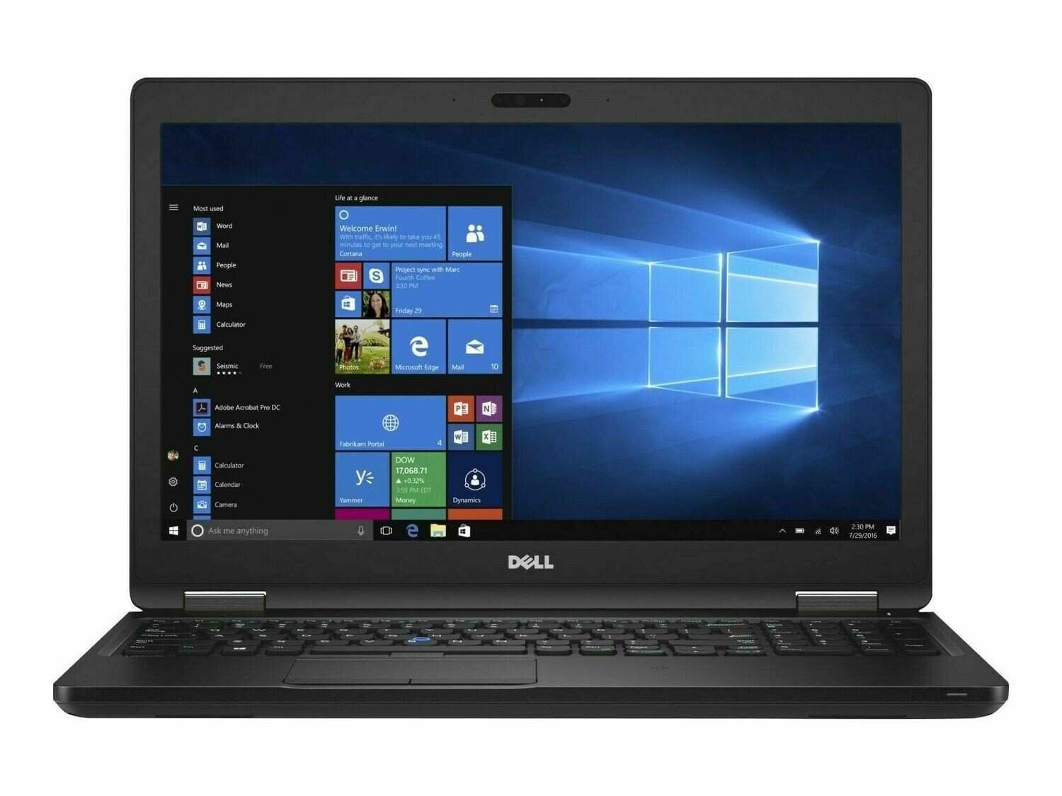 DELL LATITUDE 5580 15.6''- i7 processor- windows 10 pro