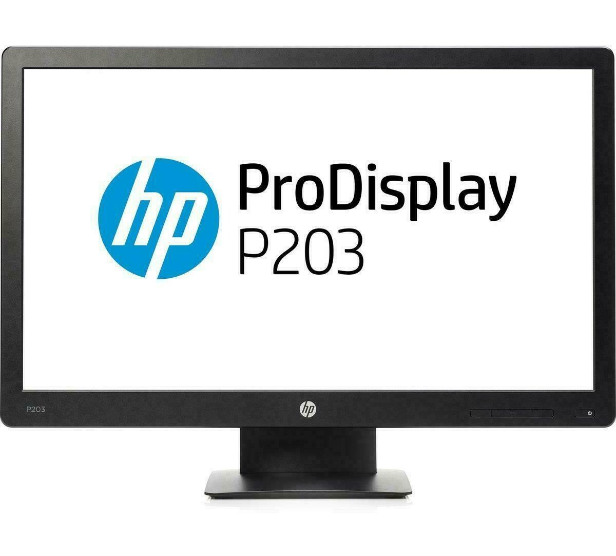 """HP 20"""" P203 Monitor (1 VGA Port, 1 Display Port)"""