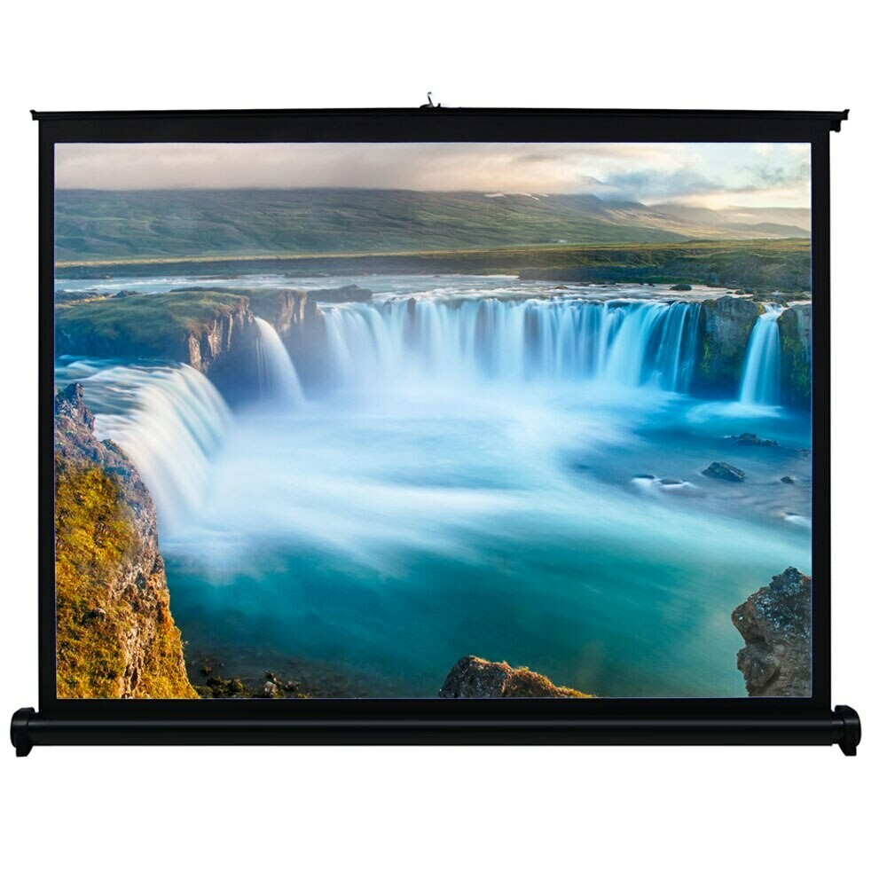 80 x 80 Electronic projector screen