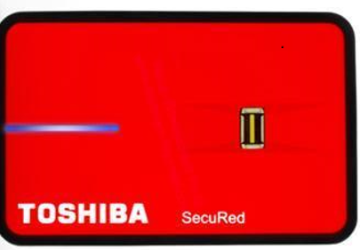 Toshiba 320 GB Fingerprint External Hard Disk