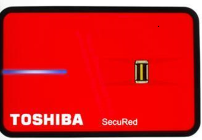 Toshiba 320 GB Fingerprint External Hard Disk