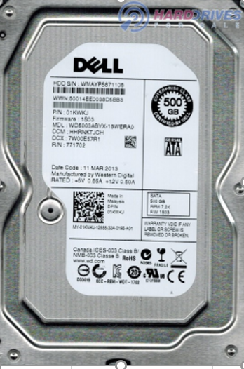 DELL internal hard disk 500 GB Desktop (7200 RPM)