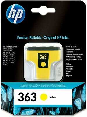 HP 363 YELLOW-PRINTS UPTO 500 PAGES