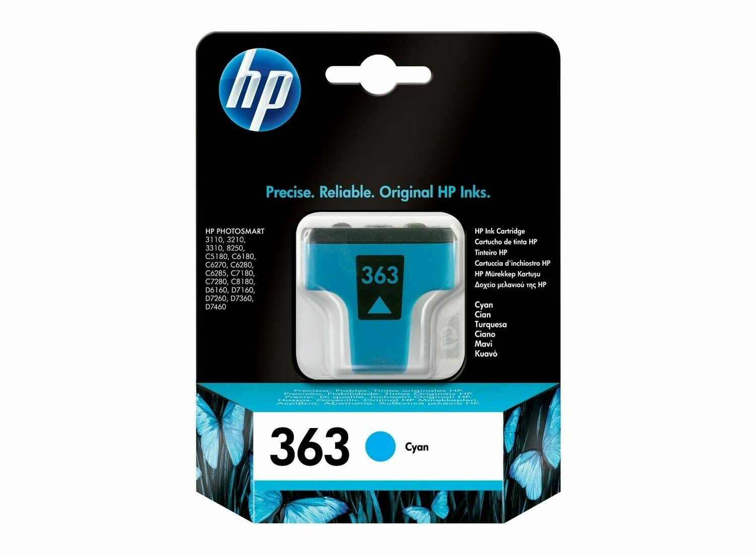 HP 363 CYAN-PRINTS UPTO 400 PAGES