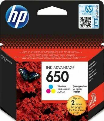 HP 650 TRI COLOUR