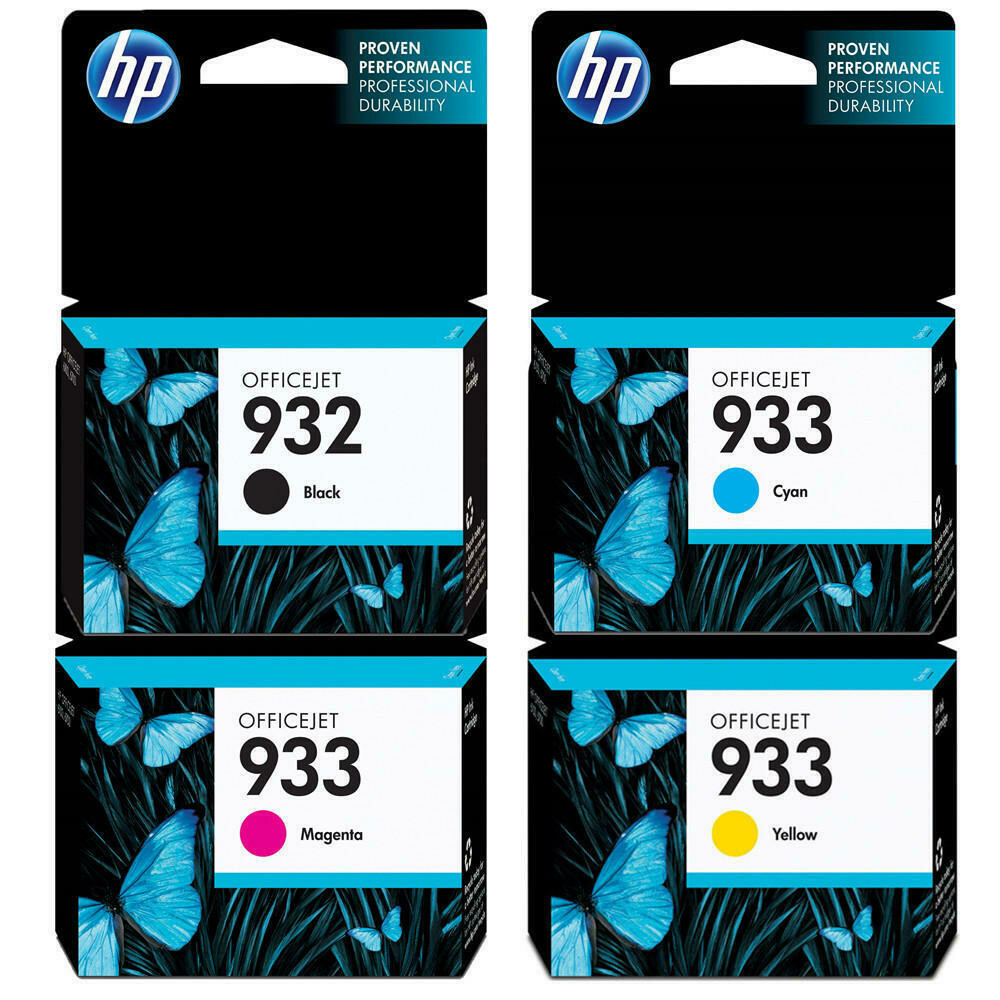 HP 932/933 COMBO PACK ( 4 PACK)-PRINTS APP Balck 1000 Pages & @ Colour 825 Pages