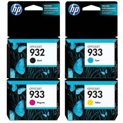 HP 932/933 COMBO PACK ( 4 PACK)-PRINTS APP Balck 1000 Pages & @ Colour 825 Pages