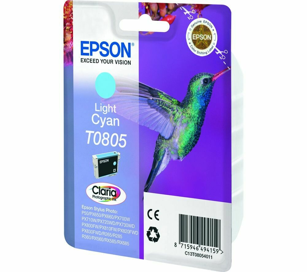 EPSON T0805 L.CYAN-FOR USE IN EPSON P50/PX660