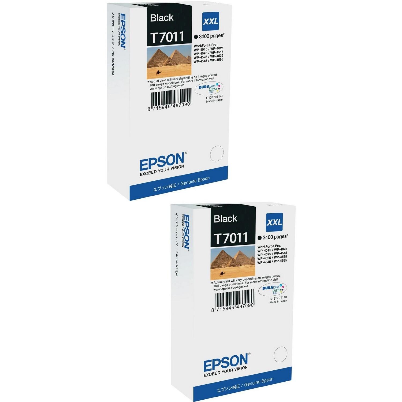 EPSON CARTRIDGE T7011 BLACK Twin Pack