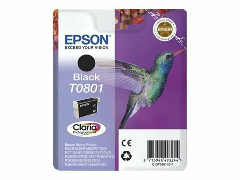 EPSON T0801 BLACK-FOR USE IN EPSON P50/PX660