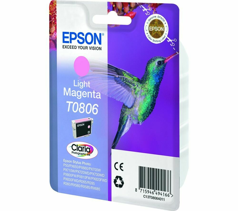 EPSON T0806 L.MAGENTA-FOR USE IN EPSON P50/PX660