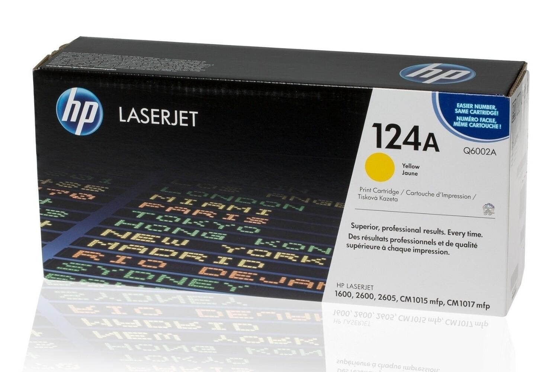 HP Q6002A YELLOW- HP 124A