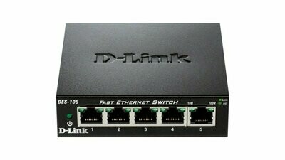 D-LINK  DES-1005A  5 PORT 10/100 DESKTOP SWITCH