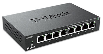 D-LINK  DES-1008A  8 PORT 10/100 DESKTOP SWITCH