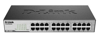 D-LINK  DES-1024D  24 PORT 10/100 DESKTOP SWITCH
