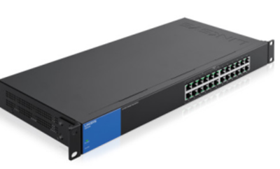 LINKSYS 24 PORT (MODEL NO:LGS124P)WITH 12-PORT PoE+  1000 Mbps GIGABIT UNMANAGED SWITCH    (1 UNIT)