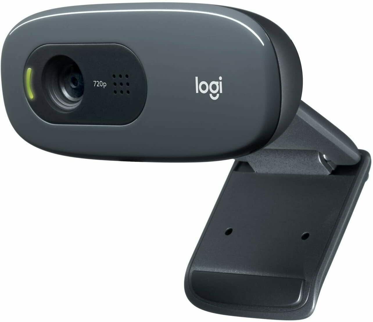 Logitech C270 HD 720p/30fps, Widescreen HD Video Calling, HD Light Correction, Noise-Reducing Mic,  Skype, FaceTime, Hangouts, WebEx, PC & Mac