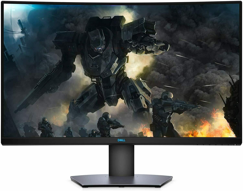 Dell S3220DGF 31.5 Inch VA, Anti-Glare, LED Edgelight System 2019 Curved Gaming Monitor (Black) 4 ms Response Time, QHD (2560 x 1440 AT 165 Hz, 2xHDMI, 4Xusb 3.0 with AMD Radeon FREE-Sync