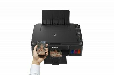 Canon PIXMA G3411 A compact Wi-Fi, refillable All-in-One with high yield inks for low-cost home or business printing from smart devices and the cloud.