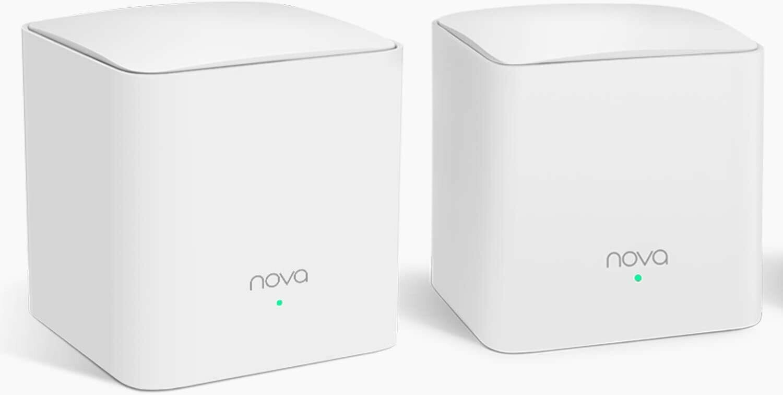 Tenda NOVA Mw5S(2-Pack) Wall-Plug Whole Home Mesh WiFi System, Coverage Up to 2, 500 Sq. Ft