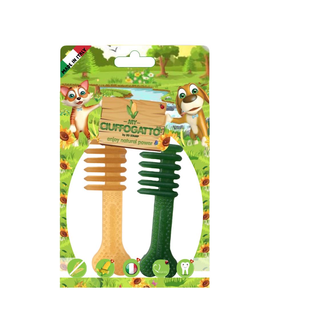 MY SPAZZOLINO - Giochi vegetali masticabili biodegradabili per cani e gatti a forma di spazzolini