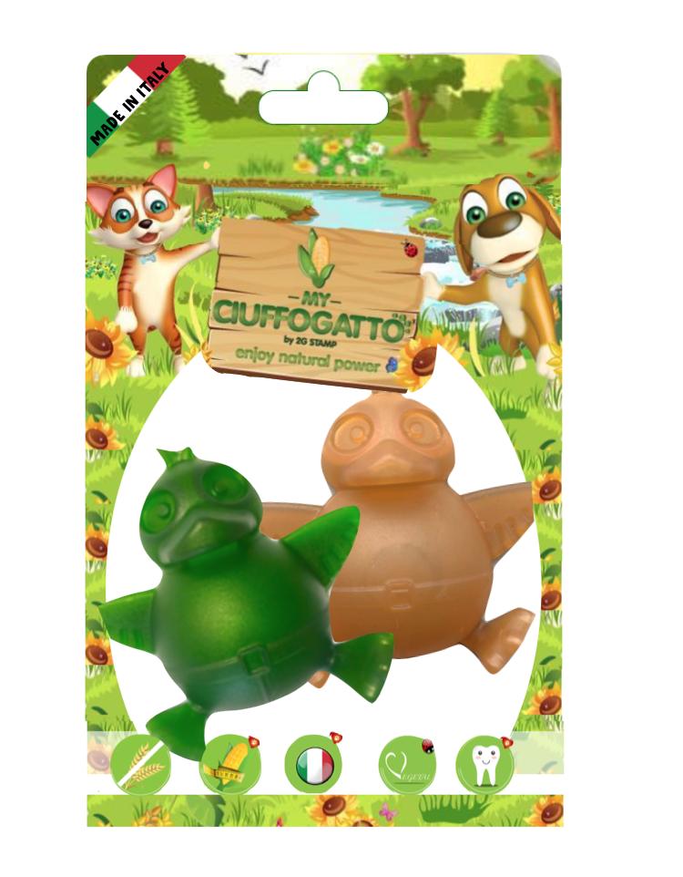 MY DUCK -  Giochi vegetali masticabili biodegradabili per cani e gatti a forma di paperelle