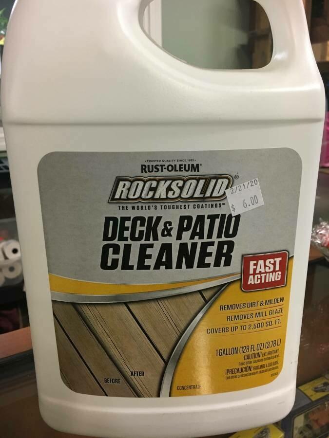 Rustoleum Deck and Patio Cleaner, gallon