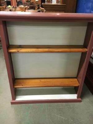 Bookshelf, pine with painted accent