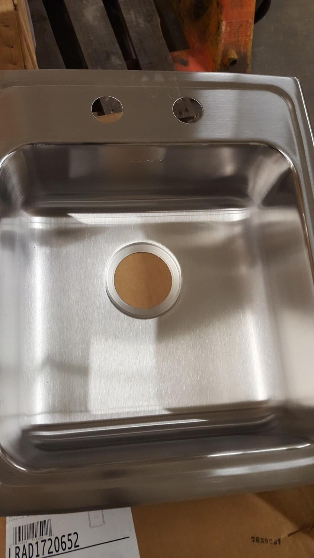 Elkay Stainless Sinks, 17x20x6.5D