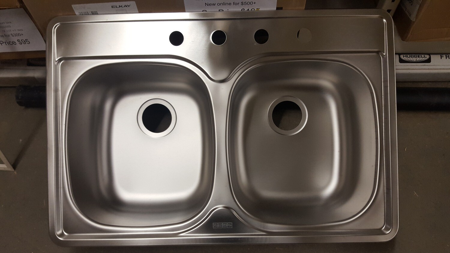 Kitchen Sink, double bowl, new