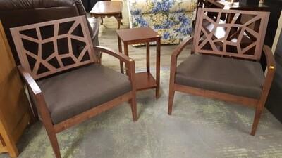 Modern Arm Chairs, pair