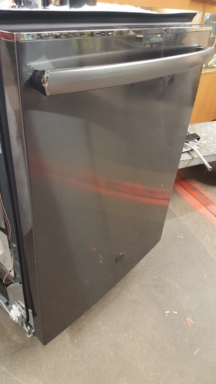 GE Profile Dishwasher, Black stainless with stainless tub, top control