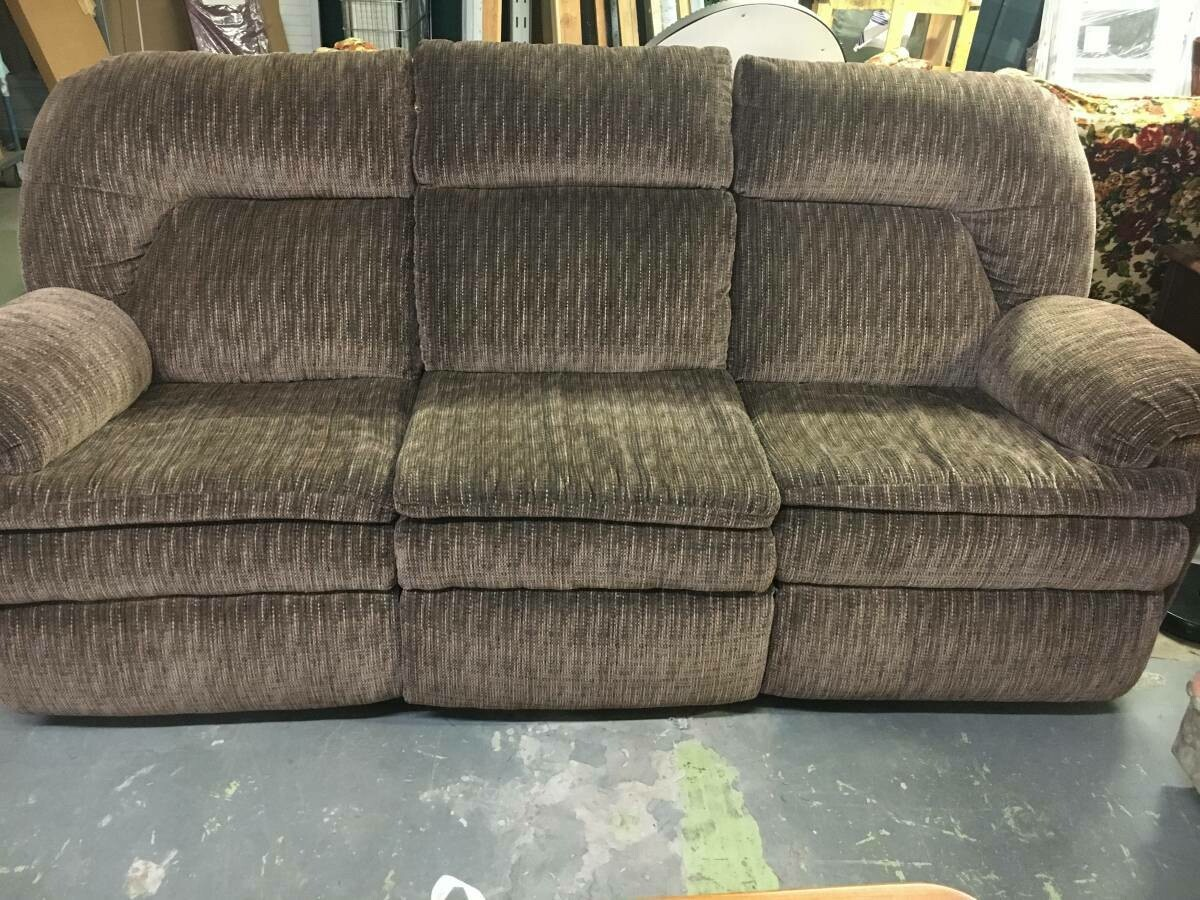 Dual Reclining Sofa, brown