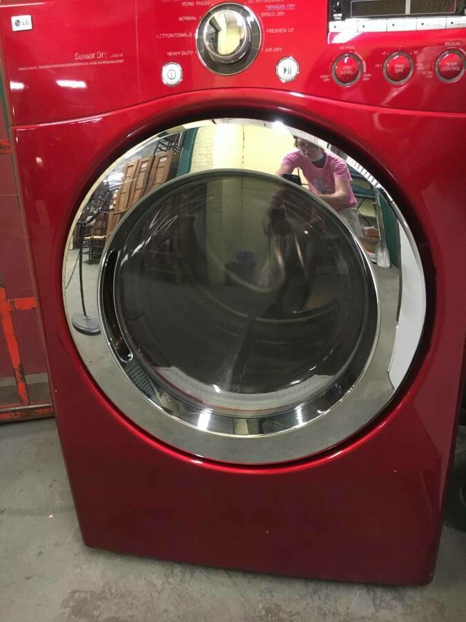 LG Washer and Dryer, red