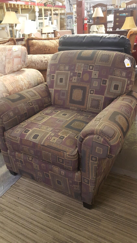 Norwalk Arm Chair, geometric pattern  (OR)