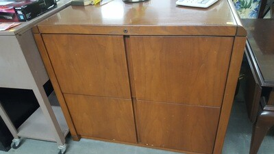 Lateral File cabinet, wood