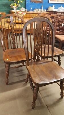 Set of 3 oak kitchen chairs