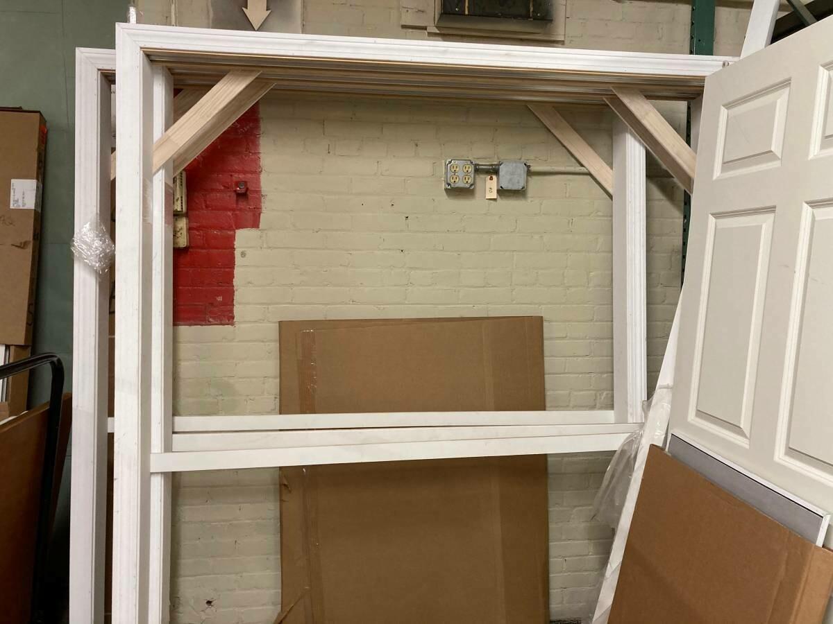 New - Closet sliding doors with frame, 6 foot