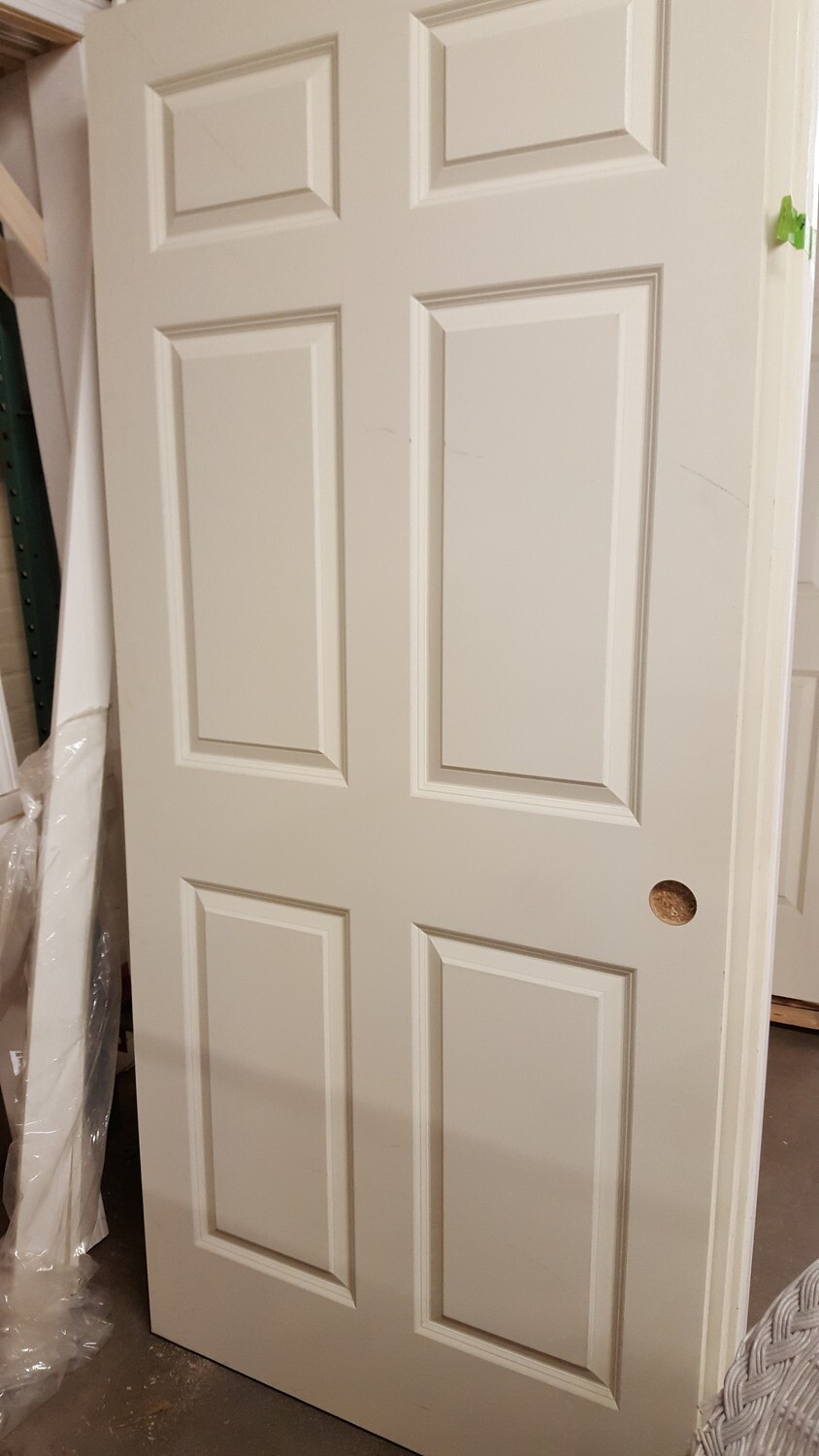 Double closet doors with frame, new (BL)