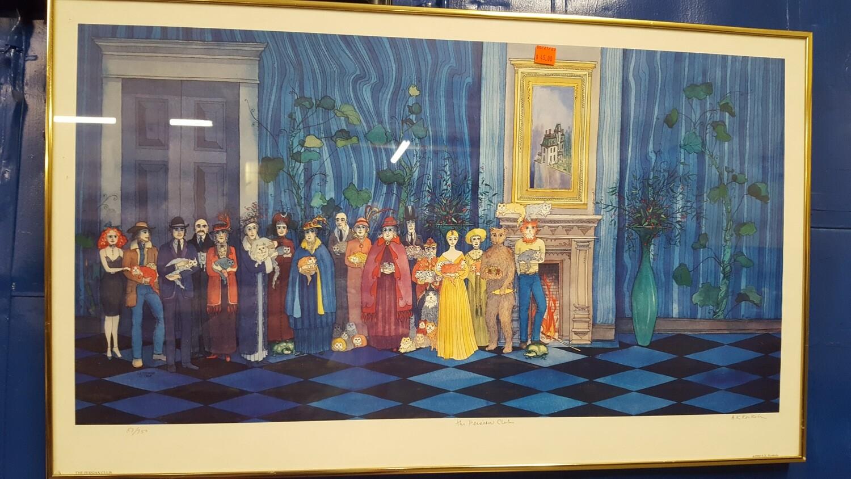 Persian Club framed print