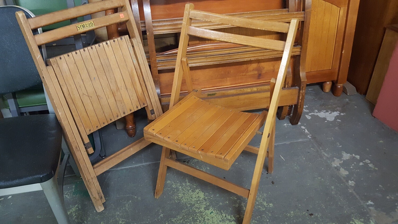 Folding Chairs, wood
