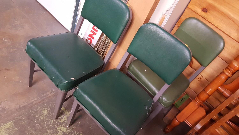 Vintage Office Chair, green vinyl