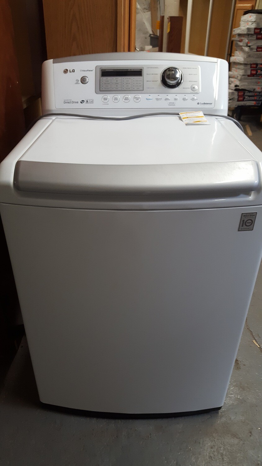 LG Washer, stainless tub