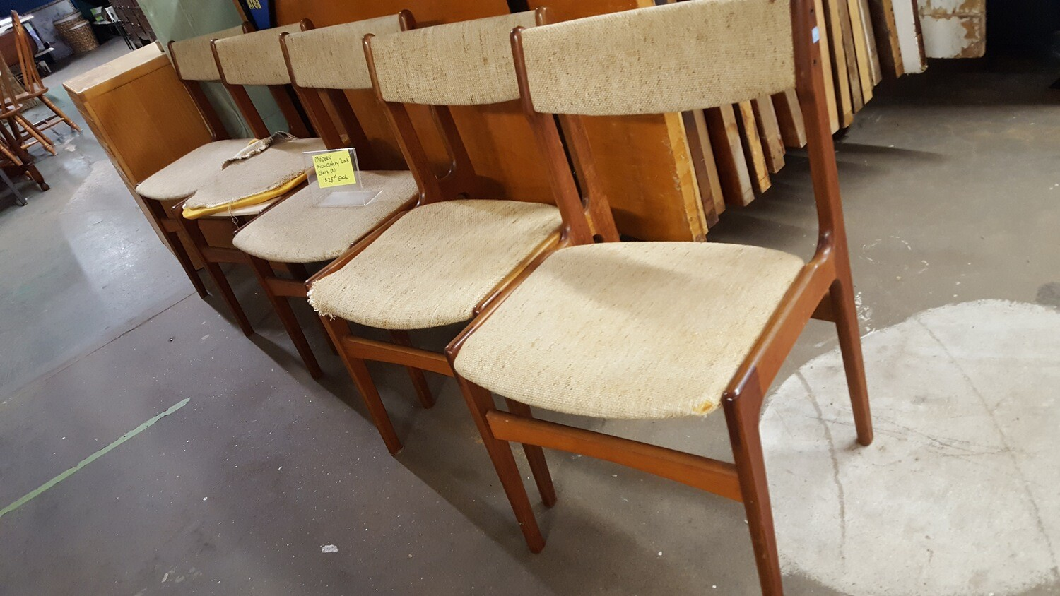 MCM Chairs, need new seats