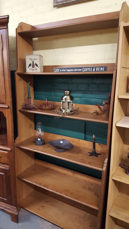 Wood Bookshelf, 3 x 6.5 ft  (R)