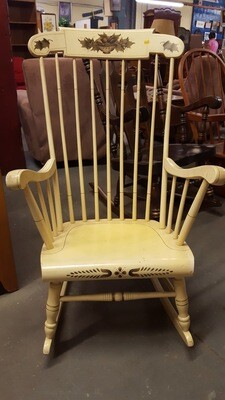 Rocking Chair, cream with stencil  (BL)