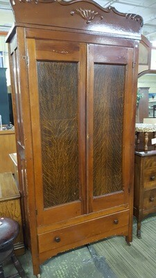 Antique Wood Closet / Wardrobe (BL)