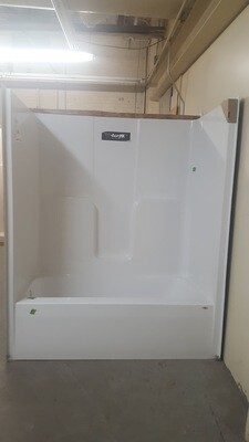 Bath Shower unit, white LH drain - B