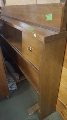 MCM Bookcase Bedframe, Full  (BL)