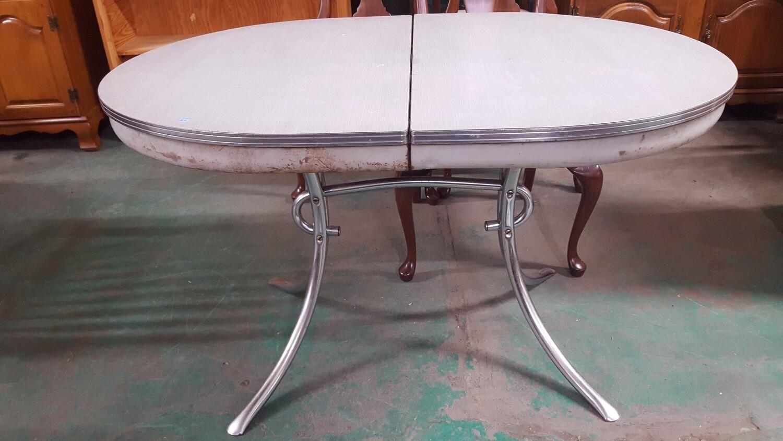 Vintage Chrome Kitchen Table  (BL)